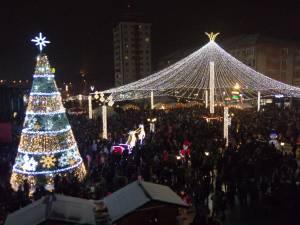 Luminile de sarbatoare din centrul Sucevei