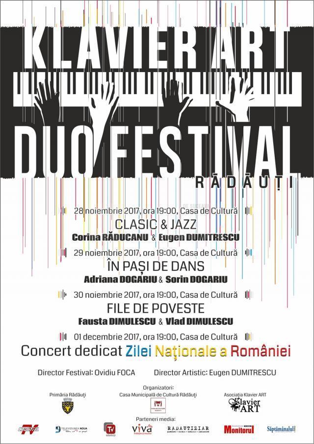 KLAVIER ART DUO FESTIVAL, primul festival de muzică clasică dedicat pianului la patru mâini, la Rădăuți