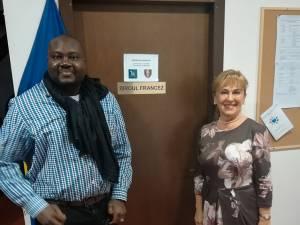 Mamadou, alături de Sanda-Maria Ardeleanu, la Biroul Francez