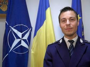Comisarul Ionuț Epureanu, purtătorul de cuvânt al Inspectoratului de Poliție Județean Suceava
