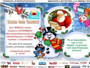 """Concursul """"Scrisoare către Moș Crăciun"""", la Biblioteca Bucovinei"""