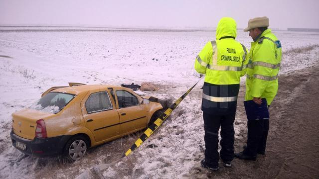 Maşina a lovit singurul cap de pod de pe o distanță de câțiva kilometri