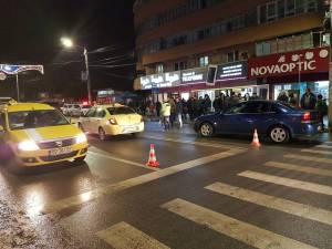 Accidentul s-a petrecut pe bulevardul George Enescu din municipiul Suceava