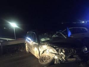 Două autoturisme au intrat în coliziune la Șcheia