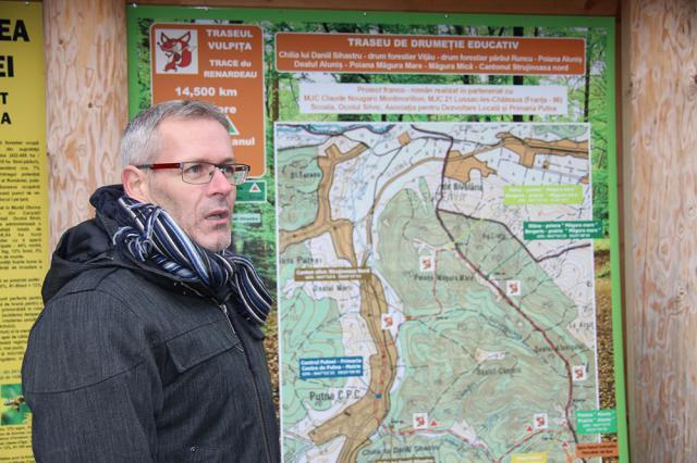 Pascal Garnier s-a implicat în realizarea unor panouri informative