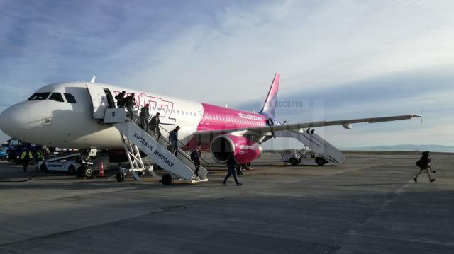 Pasagerul cu numărul 250.000 din anul acesta a venit de la Londra cu un avion Wizz Air