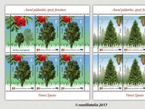 """""""Aurul pădurilor, specii forestiere"""" - emisiune comună de mărci poștale România - Estonia"""