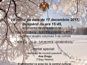 """Concert de colinde """"Dumnezeu dintru-nceput"""" și lansare de CD, la Fălticeni"""