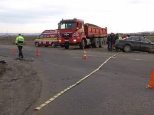Accidentul petrecut ieri dimineață, în jurul orei 10.00, pe raza comunei Horodnic de Sus
