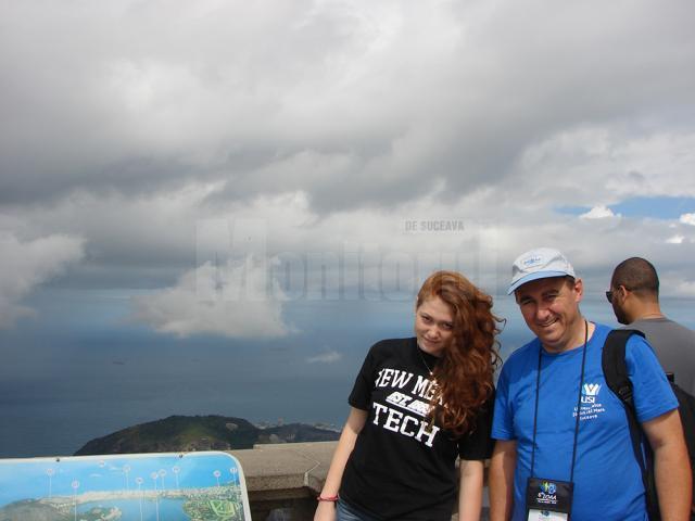 Petru Crăciun, alături de fiica sa Iustina, olimpică la disciplina la care a fost pregătită de tatăl său