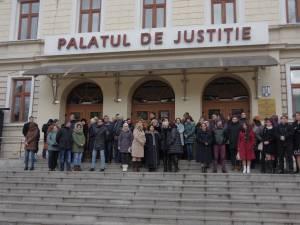 Protest al judecătorilor și procurorilor suceveni