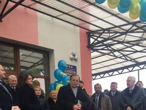 Gheorghe Flutur a fost prezent la inaugurarea unei școli romaneşti dintr-un sat din Ucraina