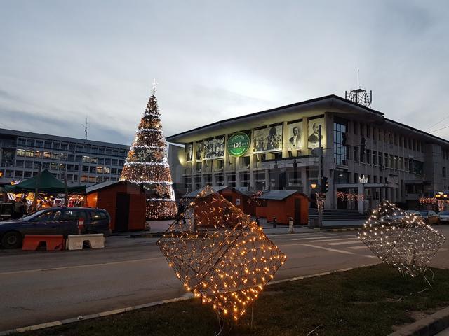 Instalaţiile de iluminat ornamental montate în municipiul Suceava vor fi stinse de luni, 15 ianuarie