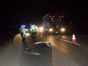 Un șofer de tir din Suceava a accidentat mortal un pieton, în Bistrița-Năsăud. Foto: bistriteanul.ro