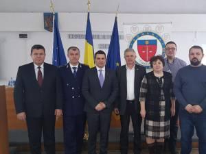 Marius Ciotău, al doilea din stânga, după alegerile de ieri