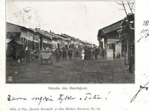 Strada Mare din târgul Burdujenilor, într-o fotografie din anul 1952