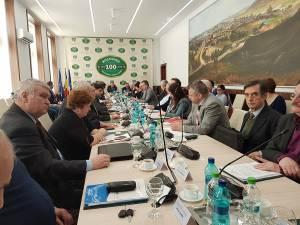 Consilierul PSD Mihai Grozavu, la şedinţa în care a votat împotriva prelungirii contractului pentru Primăria Suceava