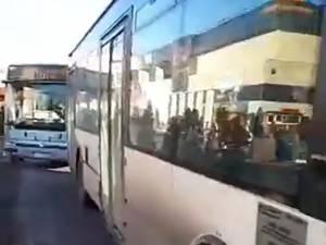 Blocarea autobuzelor de la Iulius Mall