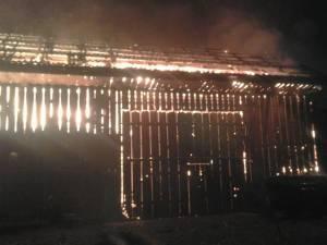 Incendiul s-a manifestat pe o arie extinsa