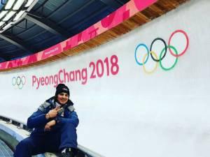 Dorin Velicu şi Maria Marinela Mazilu, în competiţia de skeleton de la Pyeongchang, Coreea de Sud
