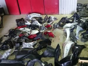 Piesele proveneau de la două motociclete marca BMW, căutate de autoritățile italiene