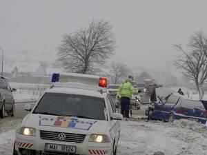 Accidentul a avut loc la intrarea în Dărmănești dinspre Rădăuţi