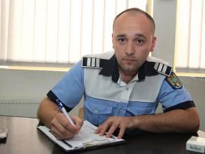 Poliţistul rutier Marius Scutariu