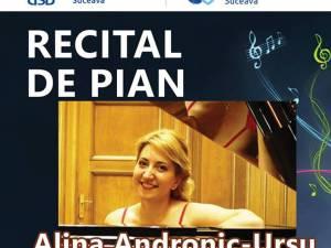 Recital de pian cu Alina Andronic-Ursu