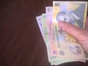 Femeia a primit înapoi doar una din cele trei bancnote de 50 de lei