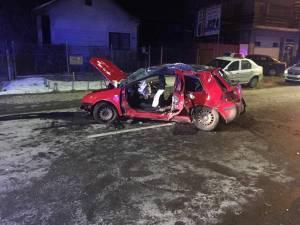 Mașina implicată în accientul de pe strada Gheorghe Doja