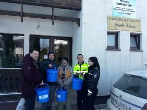 Acțiunea umanitară de la centrul pentru persoane fără adăpost