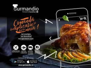 Gurmandio, prima aplicație pentru comenzi de mâncare dezvoltată de un retailer în România, de acum la tine în oraș!