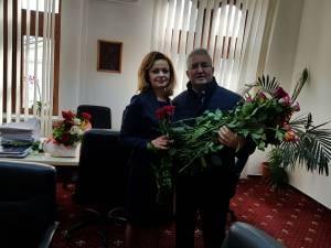 Prefectul județului Suceava, Mirela-Elena Adomnicăi, a fost printre primele femei felicitate de 8 Martie