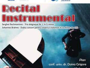 Recital instrumental, pe scena Universităţii din Suceava