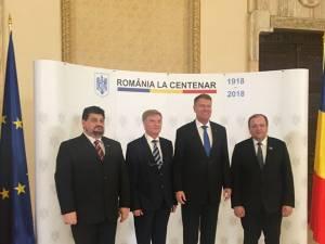 Gheorghe Flutur alături de delegația suceveană la întâlnirea cu preşedintele Klaus Iohannis