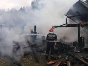 Intervenție grea a pompierilor, la Brodina