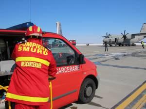 Interventie pentru salvarea victimelor din avion