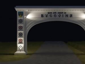 În comuna Cornu Luncii va fi construită o poată în formă de arc de triumf