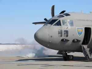 Aeronava a luat foc în urma aterizării forțate