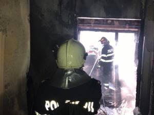 Incendiu într-o garsonieră din Burdujeni