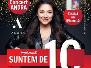 10 ani de Shopping City Suceava: Megaconcert ANDRA şi un iPhone 10 la tombolă!