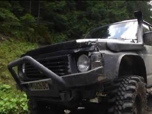 Maşina în care s-au găsit animalele împuşcate