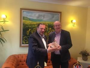Flutur a discutat cu ambasadorul Marii Britanii despre dezvoltarea parcului industrial Bucovina