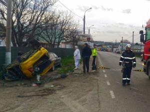 Autotrenulşi taxiul implicate în gravul accident