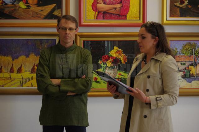 """Pictorul David Croitor a expus 36 de """"stări"""", la Muzeul de Istorie Suceava"""