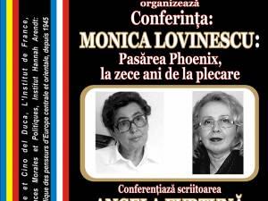 """Conferința """"Monica Lovinescu: Pasărea Phoenix, la zece ani de la plecare"""", la Biblioteca Bucovinei"""