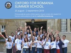 Elevii pot experimenta viaţa de student la Oxford