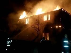 Incendiu devastator la Negrileasa. O gospodărie a fost mistuită de flăcări