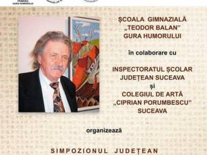 """Simpozionul """"Corneliu Tincu - un dascăl de excepție"""", vineri, la Gura Humorului"""