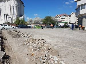 Au fost demarate lucrările la primul dintre proiectele pe cartiere – reabilitarea parcării MPO, din intersecția Mărășești